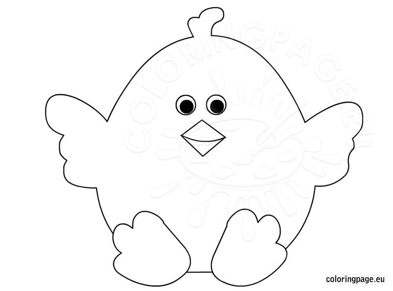 Cute Chick Coloring Printable