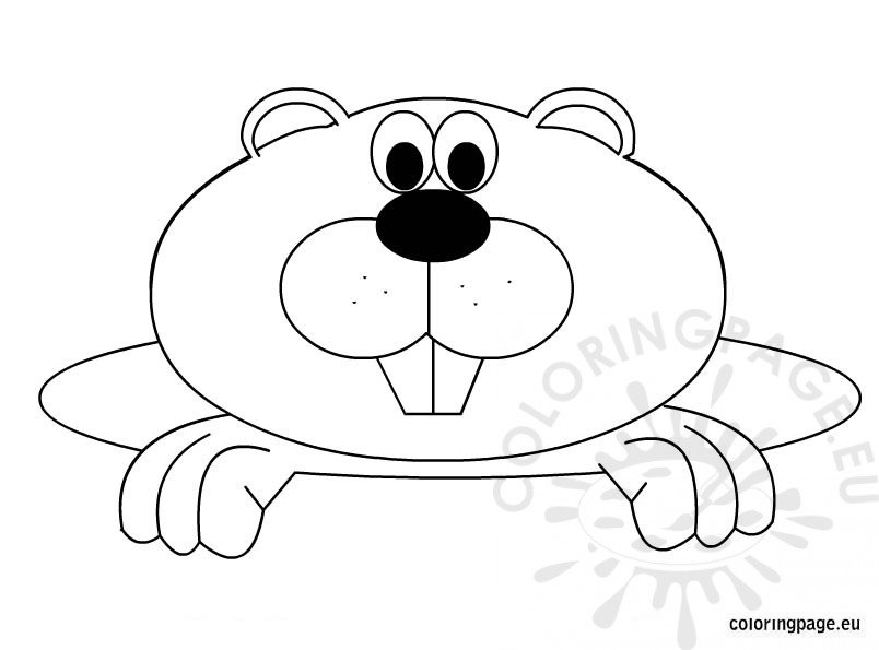 Free Groundhog Day coloring page