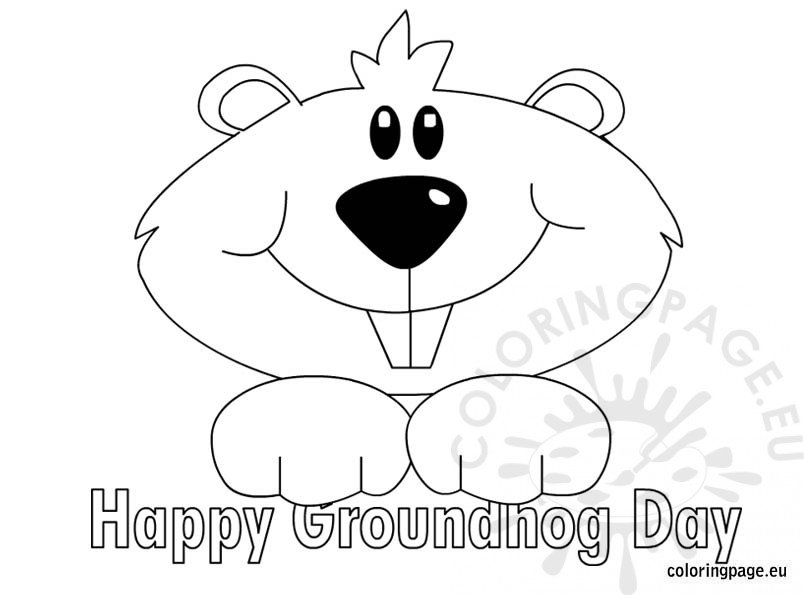 Groundhog Coloring Pictures | Coloring Pages