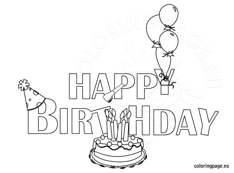 Free coloring pages - Color for th birthday ...