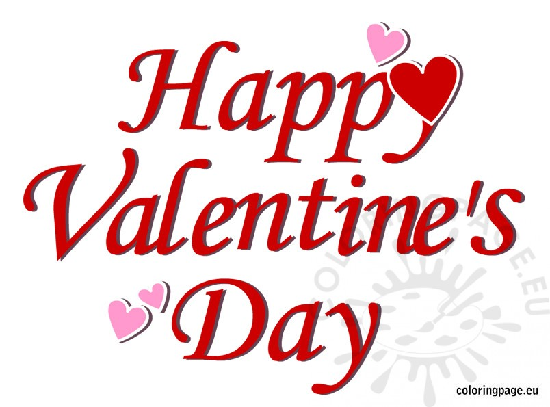 Happy Valentine's Day picture | Coloring Page