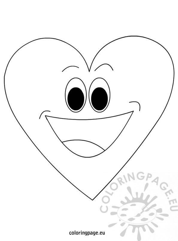 Cartoon Heart Man Coloring