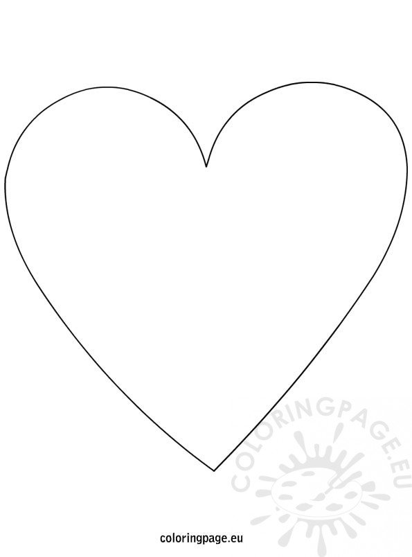 Heart Shape Template Coloring Page