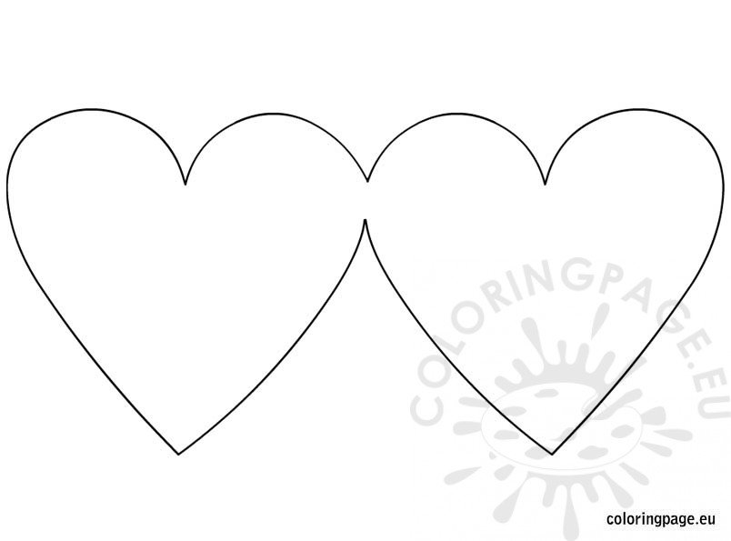 Heart shaped greeting card blank Coloring Page