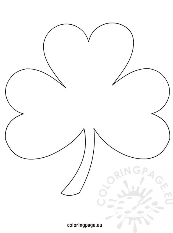 shamrock coloring page shamrock template - Printable Shamrock Coloring Pages
