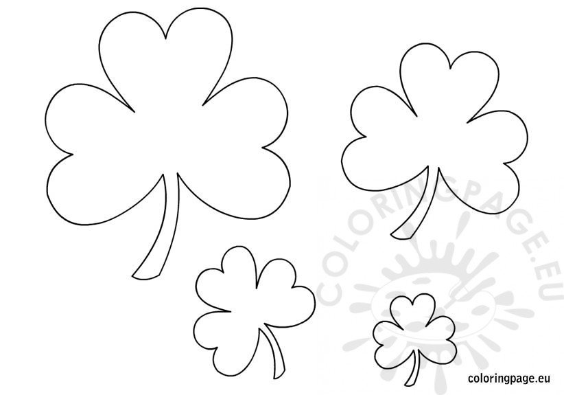 photograph regarding Shamrock Printable Template called Printable Shamrock Templates Coloring Site