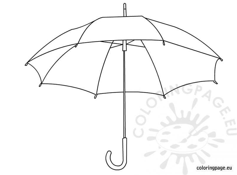 Umbrella Coloring Pages For Kids Coloring Page