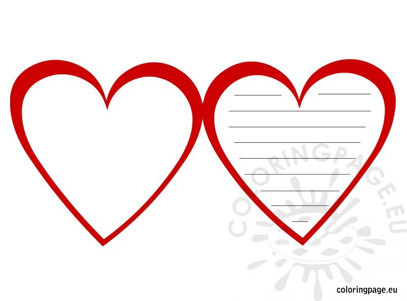 Free Printable Valentine Day Card | Coloring Page
