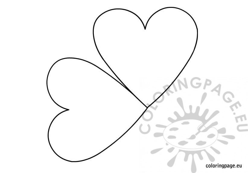 Black And White Heart Template  Coloring Page