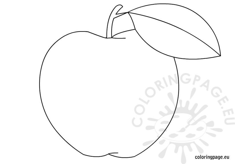 apple-coloring-page