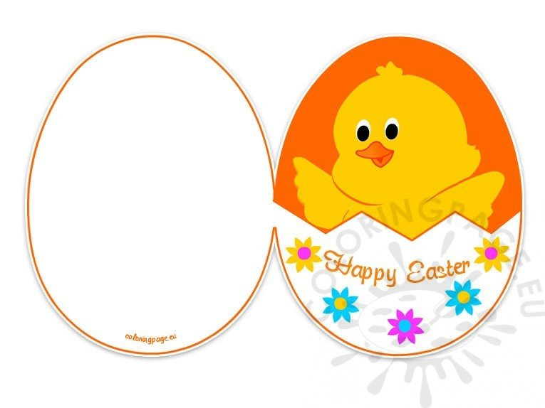 Easter Card Printable Free - Coloring Page