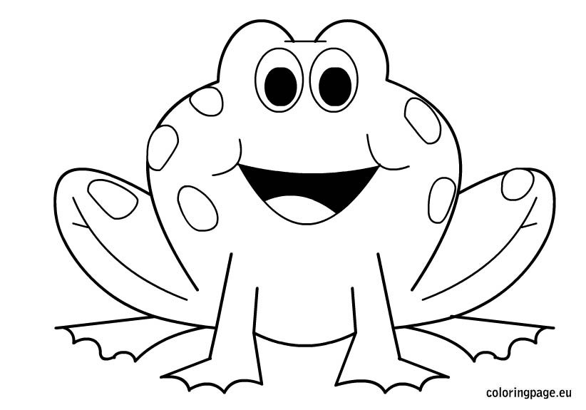 coloring pages frog - photo#5
