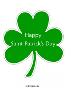 Happy Saint Patrick's day shamrock
