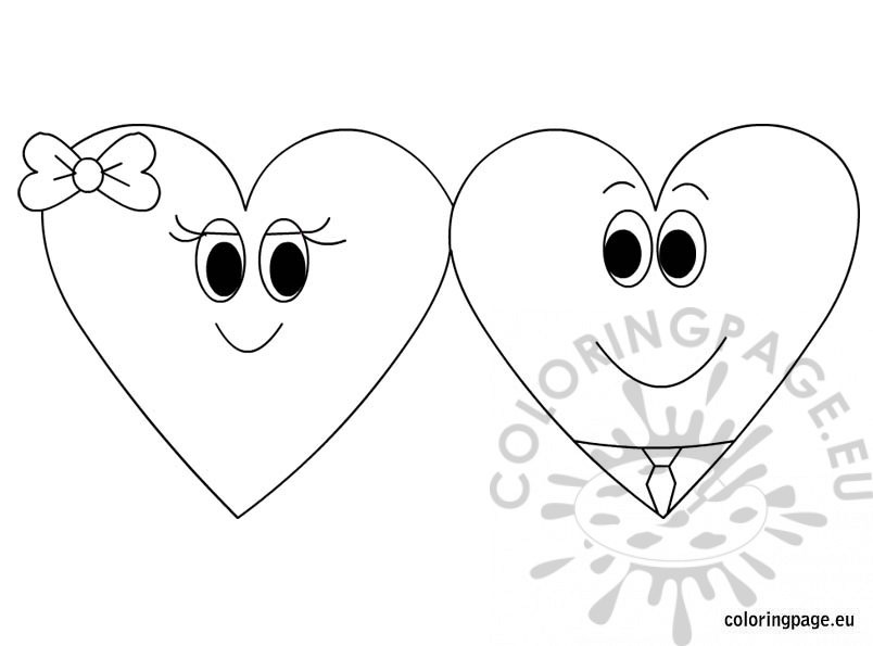 Free printable coloring page Valentines Day