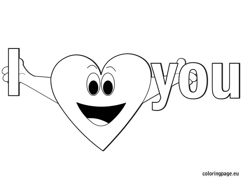coloring pages i love you - i love you coloring page