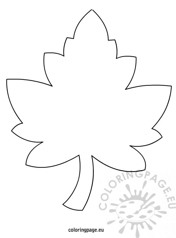 Maple Tree Coloring Page Fall Pages With No