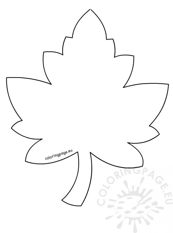 Maple Leaf Template Coloring
