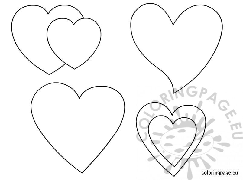 Printable hearts shapes Coloring