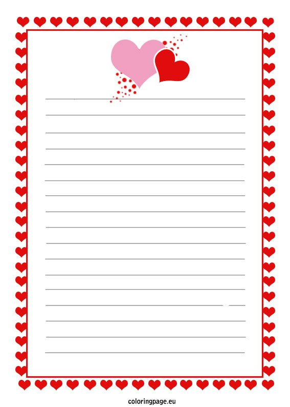 printable--letter Valentine S Day Letter Writing Template on english class, 2nd grade, for first grade, second grade, for kids pdf,