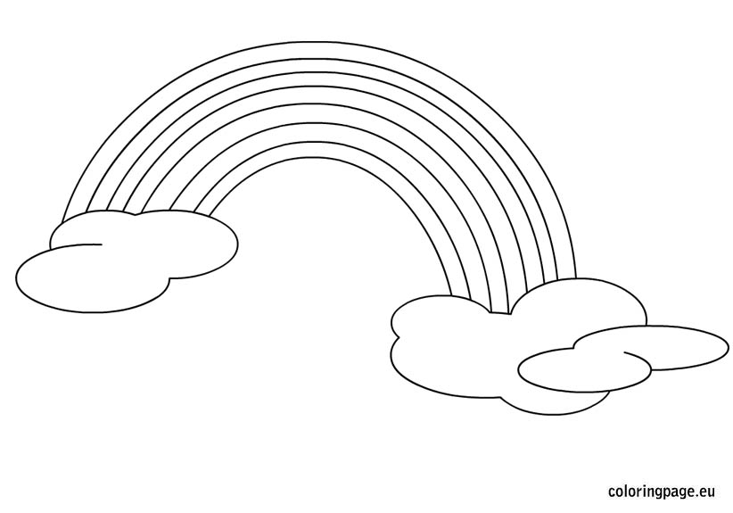 Rainbow coloring page - Coloring Page