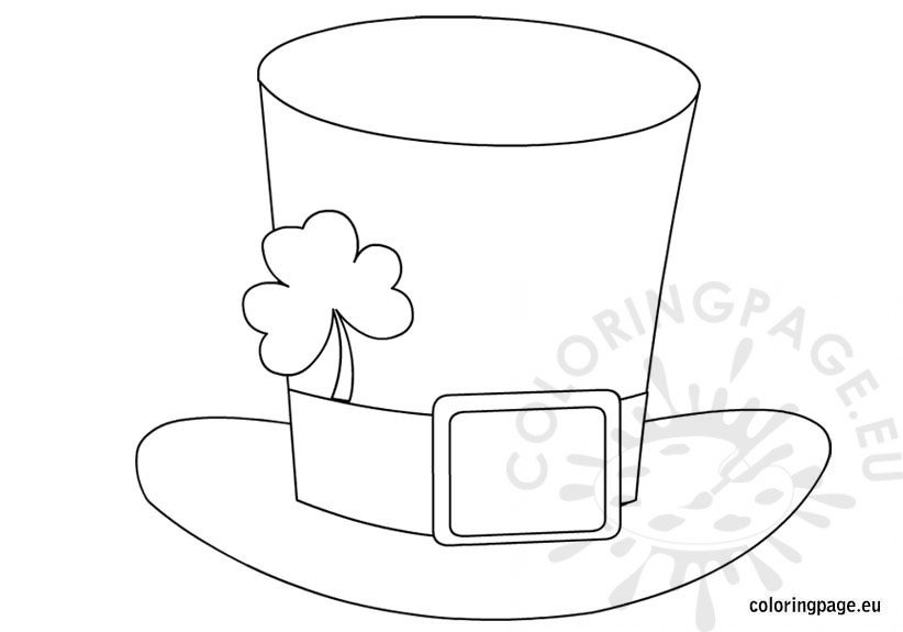 leprechaun hat coloring page st patrick 39 s day hat coloring page