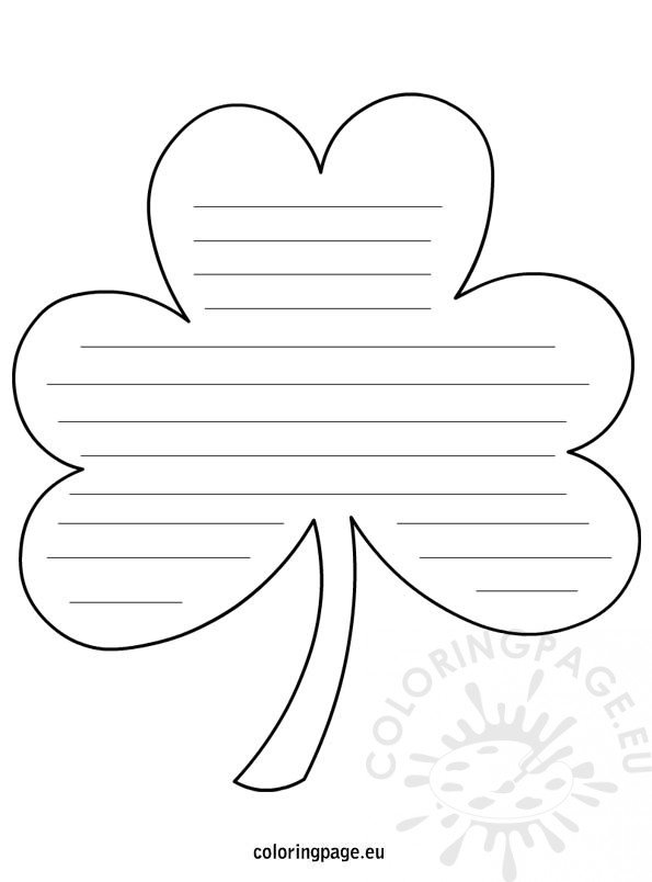 Shamrock Shape with lines – Writing Templates with Lines