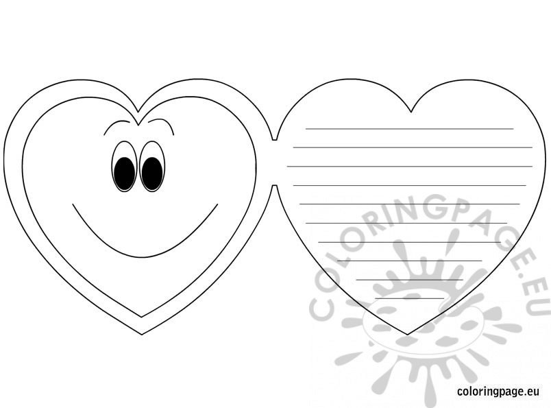 Letter coloring sheets printable new coloring page alphabet pages - Valentine S Day Greeting Card Coloring Page