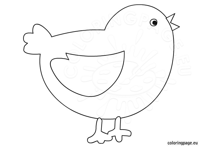 Baby chick coloring page for kids Coloring Page