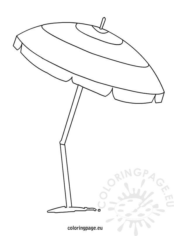 Beach Umbrella coloring page Coloring Page