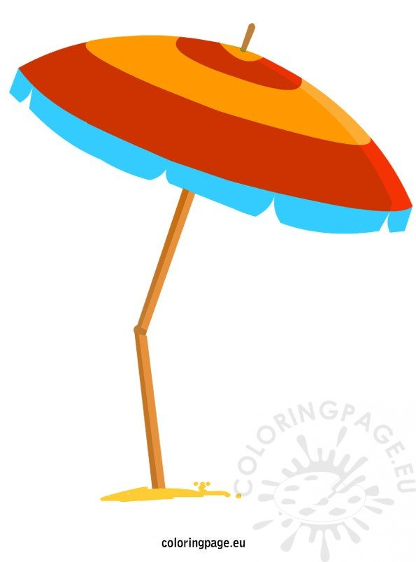 beach umbrella coloring page. Black Bedroom Furniture Sets. Home Design Ideas