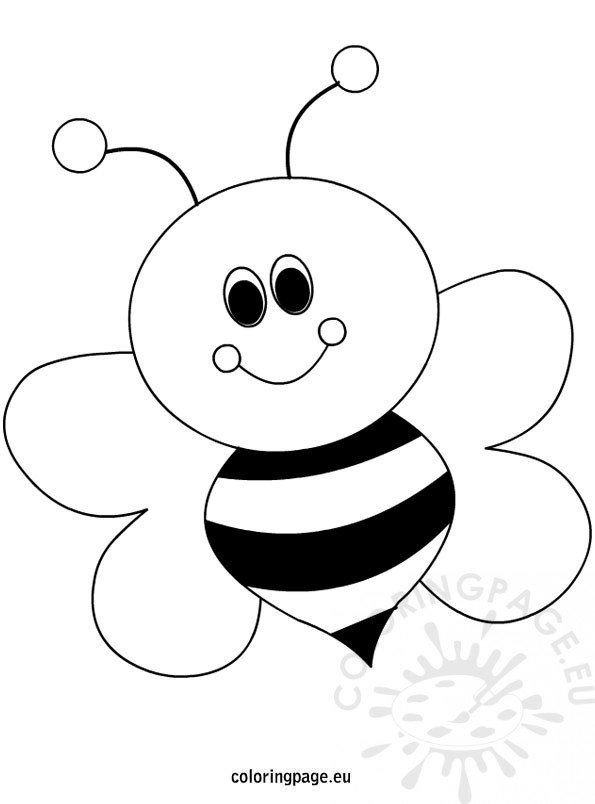 Happy Little Bee Cartoon
