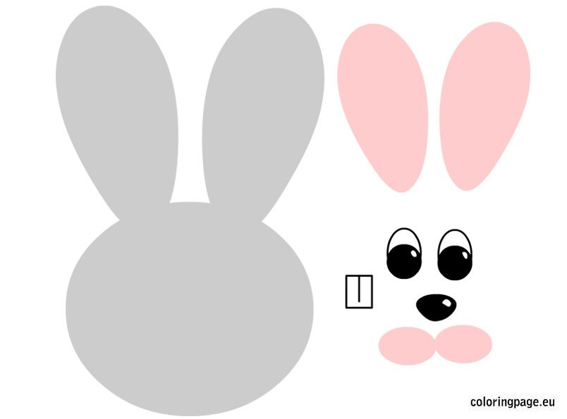easter hat template printable - bunny pattern free coloring page