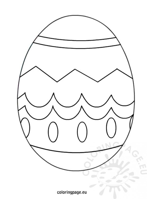 Easter egg coloring page for kids