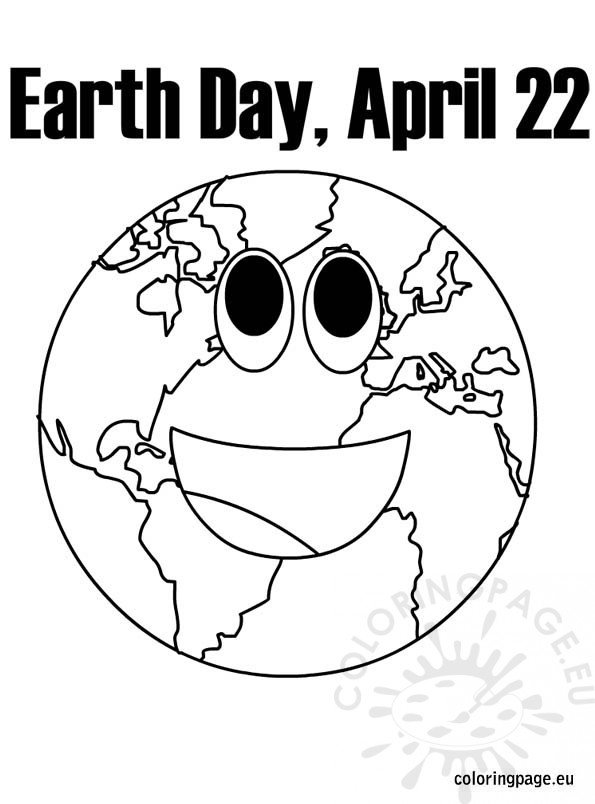 Earth Day April 22 Coloring Page Coloring Page