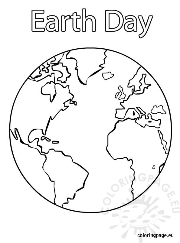 Earth Day - Coloring Page