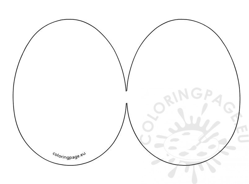 Easter Egg Card template  Coloring Page
