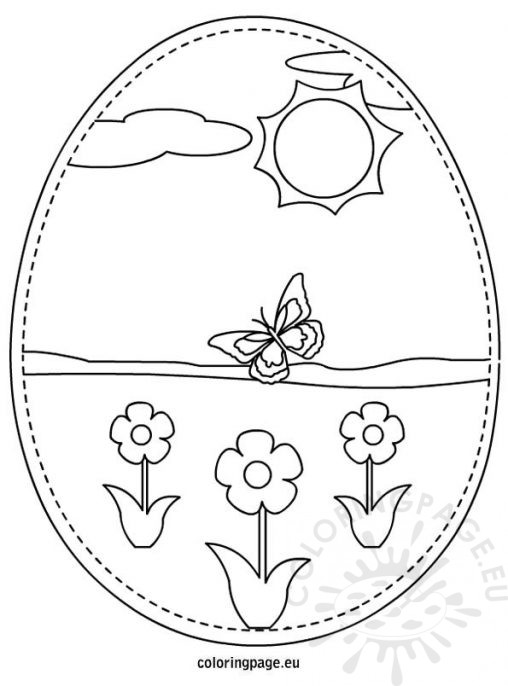 easter eggs printable coloring page - Coloring Page Templates
