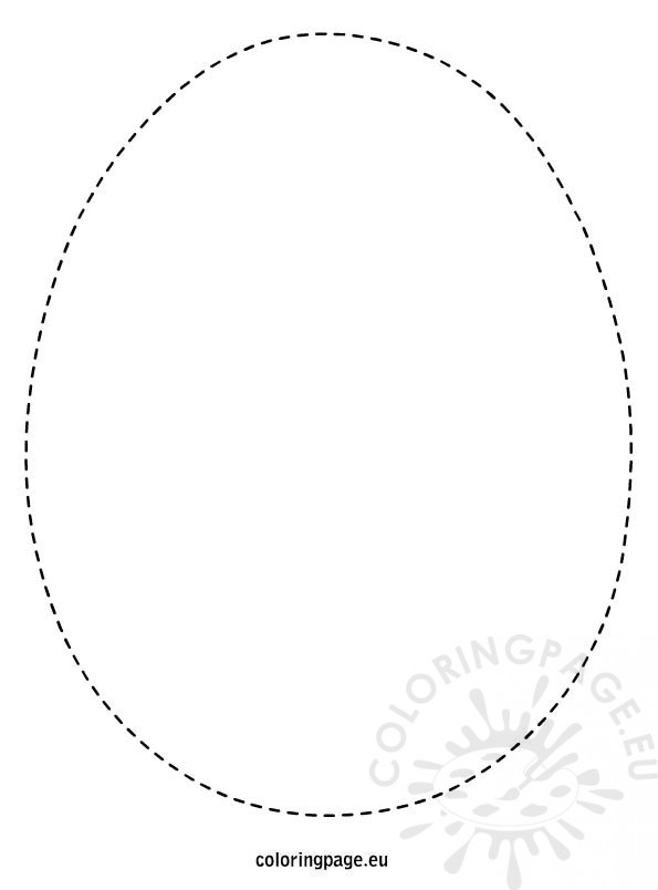 easter egg template coloring page