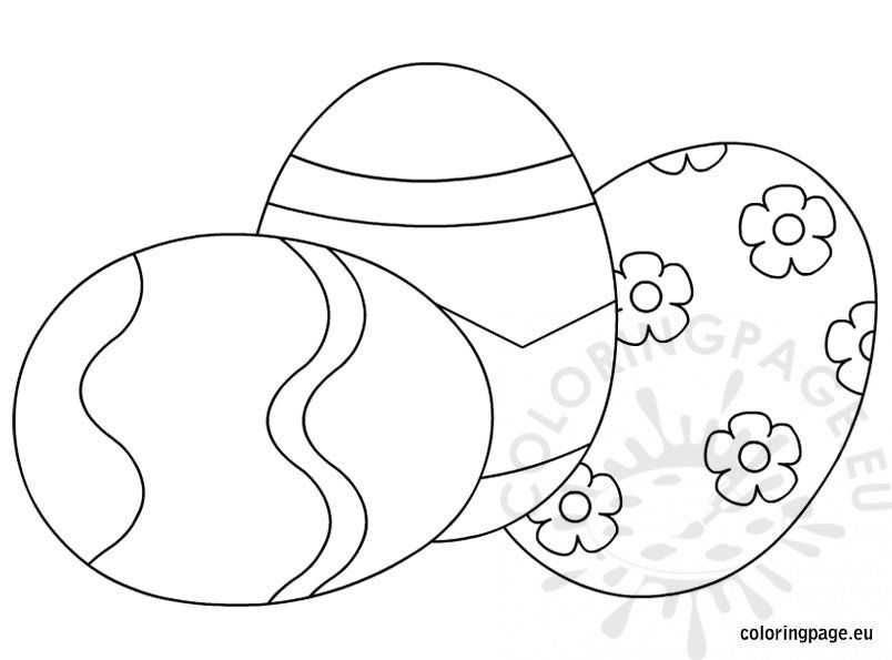 Easter Eggs Coloring Page To Print