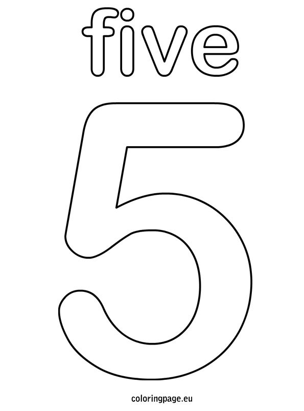 Five Coloring Page