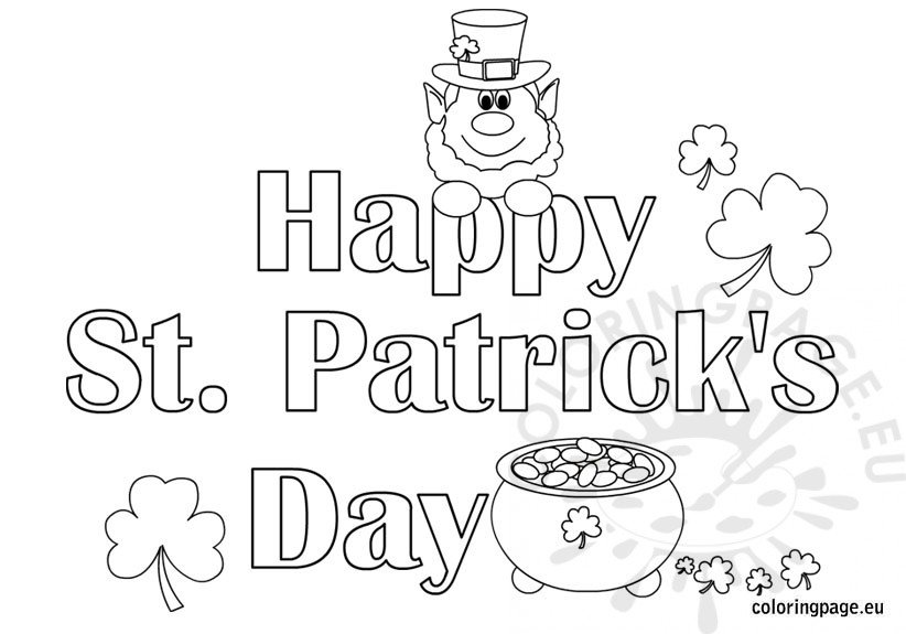 St Patrick 39 s Day Archives Coloring