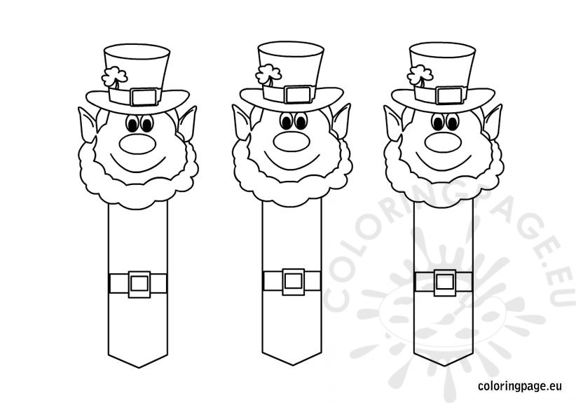 leprechaun-bookmarks-coloring-page