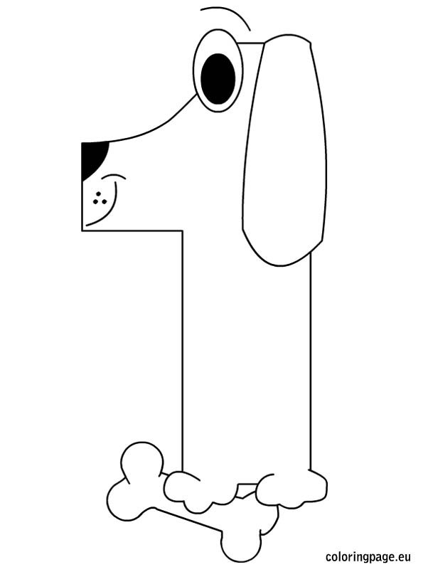 Number one coloring page - Coloring Page