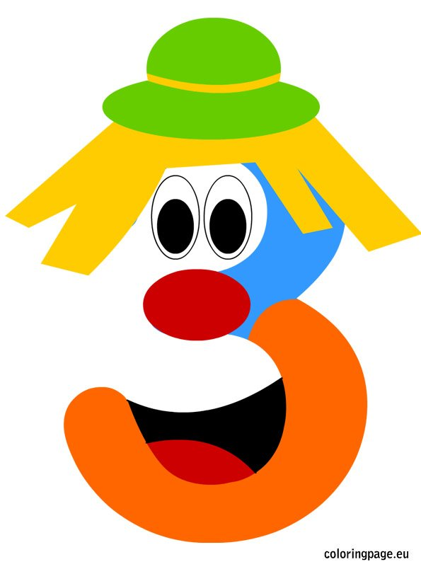 number-three-clown