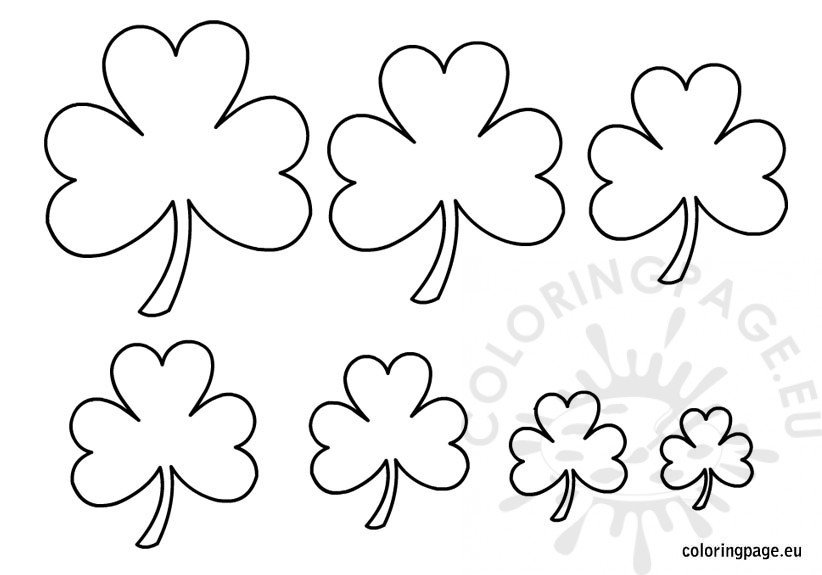 Shamrock Shape Template  Coloring Page