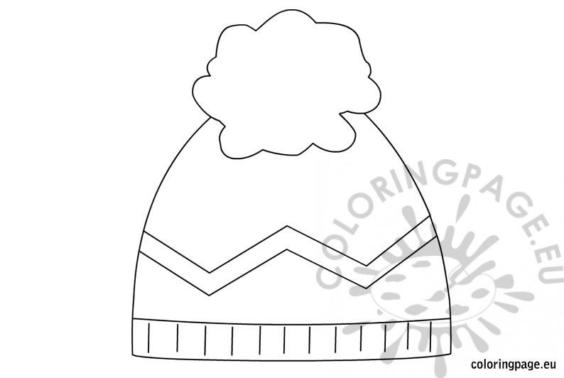 This is a photo of Witty Winter Hat Coloring Page