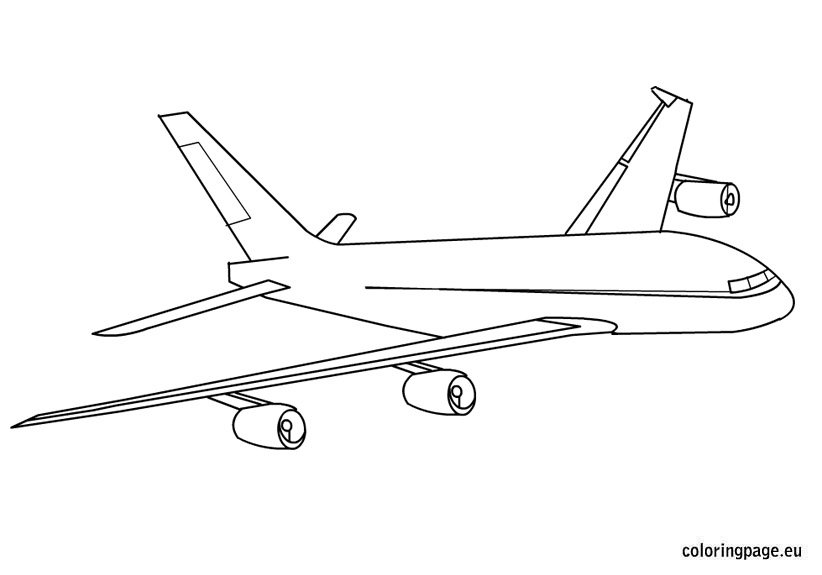 airplane flying  sky coloring page coloring page