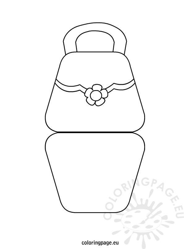 bag shaped mother u2019s day card  u2013 coloring page