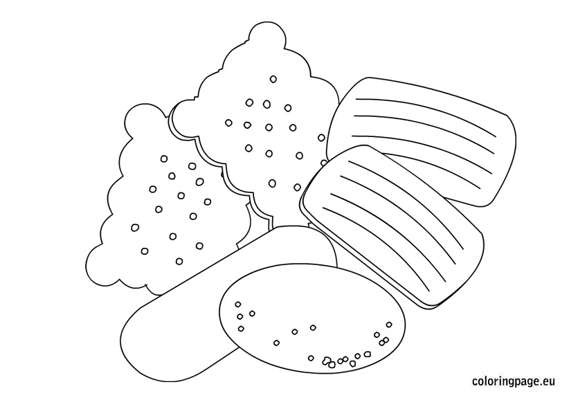 biscuit coloring pages - photo#1