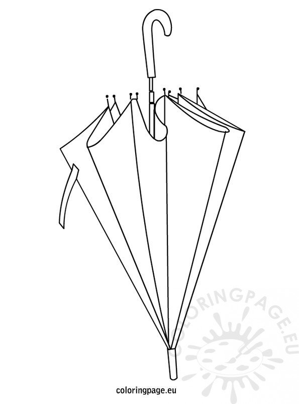 closed umbrella coloring page